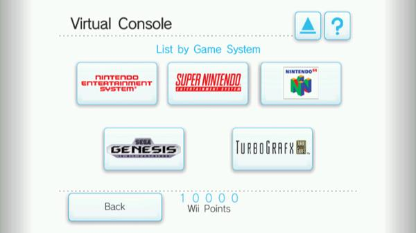 Wii Virtual Console